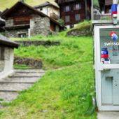 Die einsamste Telefonkabine der Schweiz