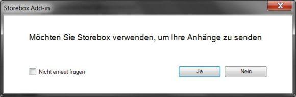Invio dell'allegato Storebox Outlook come link