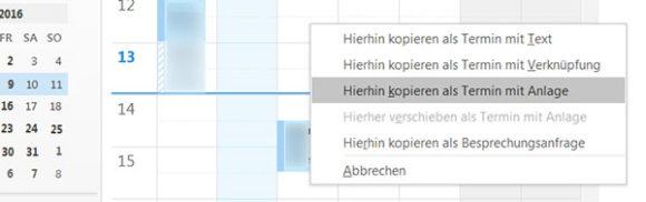 Outlook-Termine aus E-Mails erstellen
