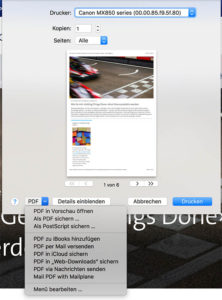 Mac Seite als PDF speichern