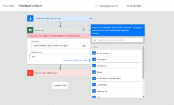 Microsoft Flow Ablauf erstellen