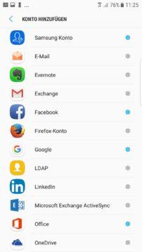 Zwei Namen fürs Gleiche: Gmail spricht von «Exchange», die E-Mail-App von «Exchange Active Sync».