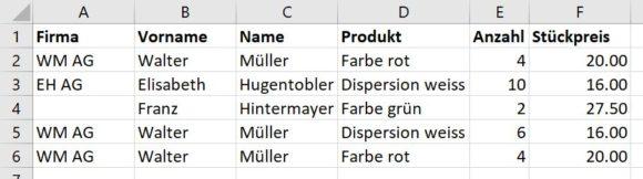 Excel: Duplikate filtern und mit Formel finden