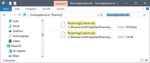 Microsoft Office Benutzerwörterbuch