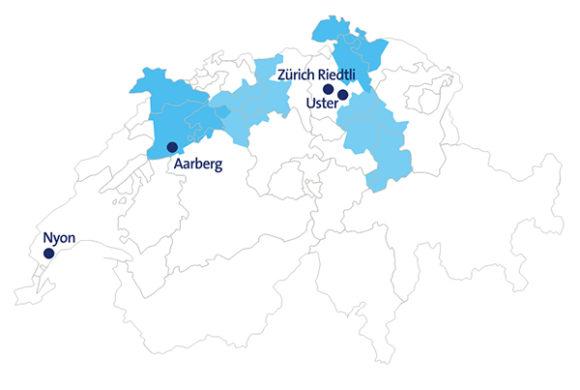 IP-Umstellung Schweiz nach Regionen