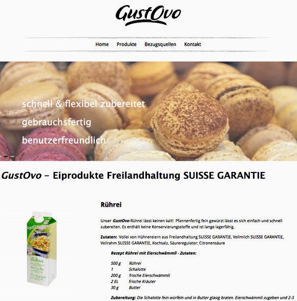 Website Unternehmen: GustOvo