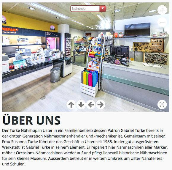 Turke Nähshop: Website für Unternehmen