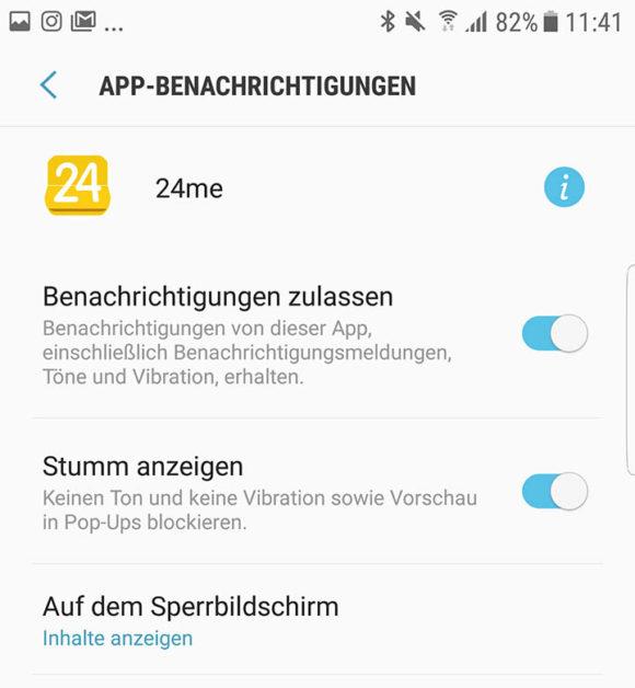 App-Benachrichtigungen unter Android einstellen