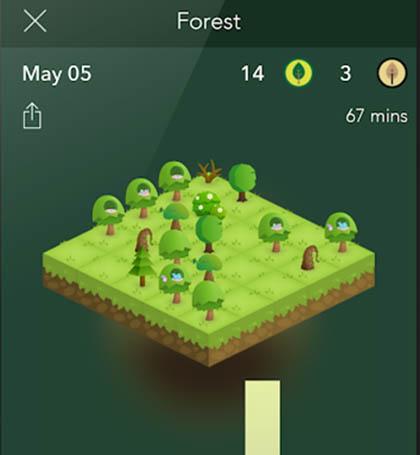 Fokussieren und Bäume pflanzen: die Forest-App.