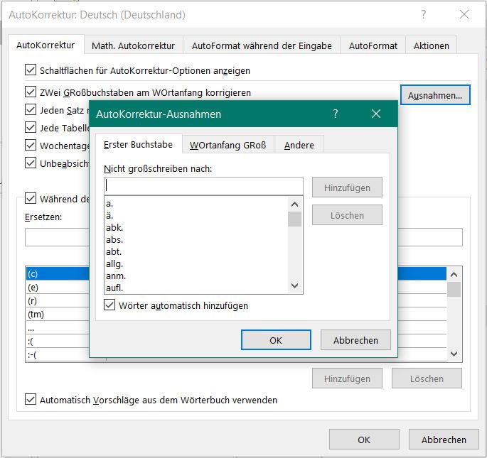 word-autokorrektur-klein-schreiben-optionen