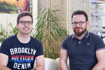 Cyril Mugglin (left, Swisscom) and Manu Lubrano (Involi) met at the StartUp Challenge.