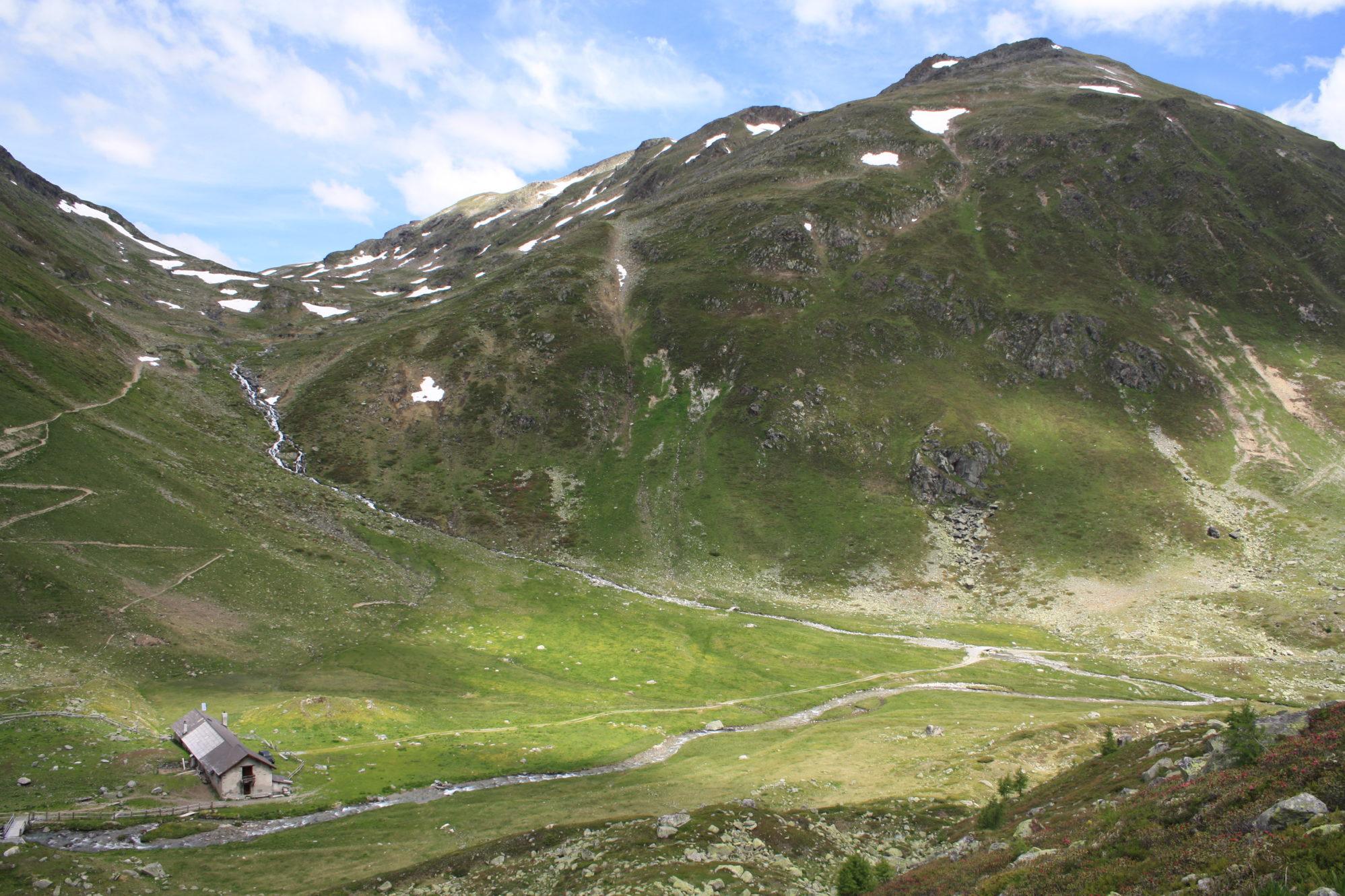 Blick auf Alp Funtauna im Oberengadin