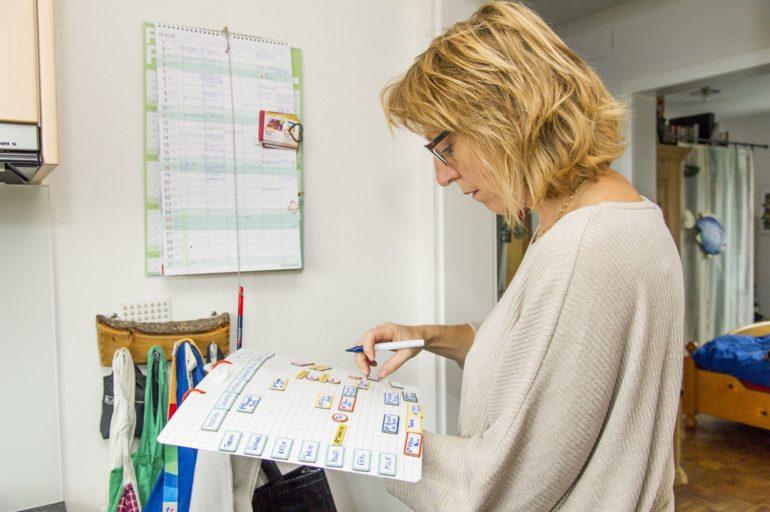Calendrier mural pour planifier le quotidien de la famille