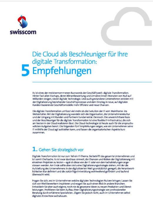 Cloud als Beschleuniger der digitalen Transformation: Whitepaper jetzt herunterladen!