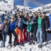 Glace, neige et drones: course de drones à Laax