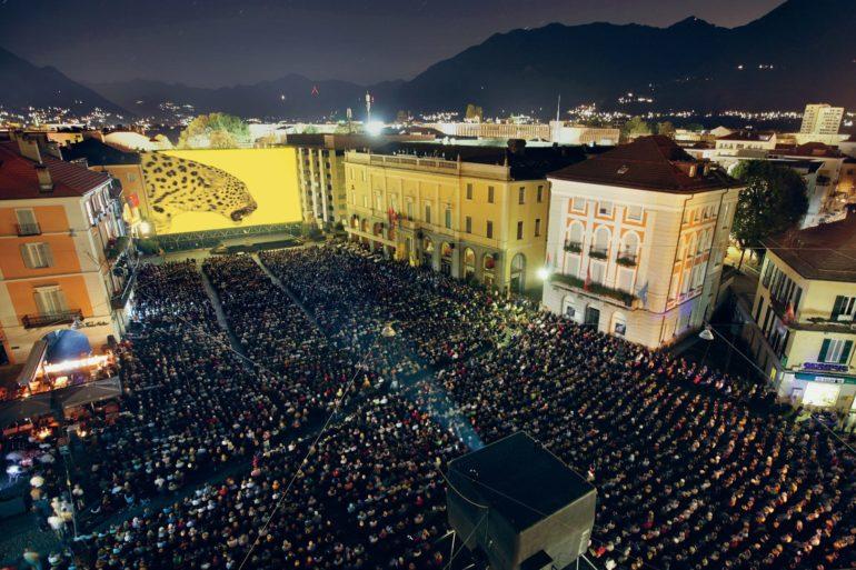 Filmfestival auf der Piazza Grande in Locarno.