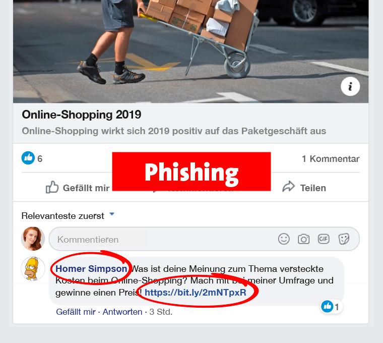 Facebook-Umfrage als Phishing erkennen