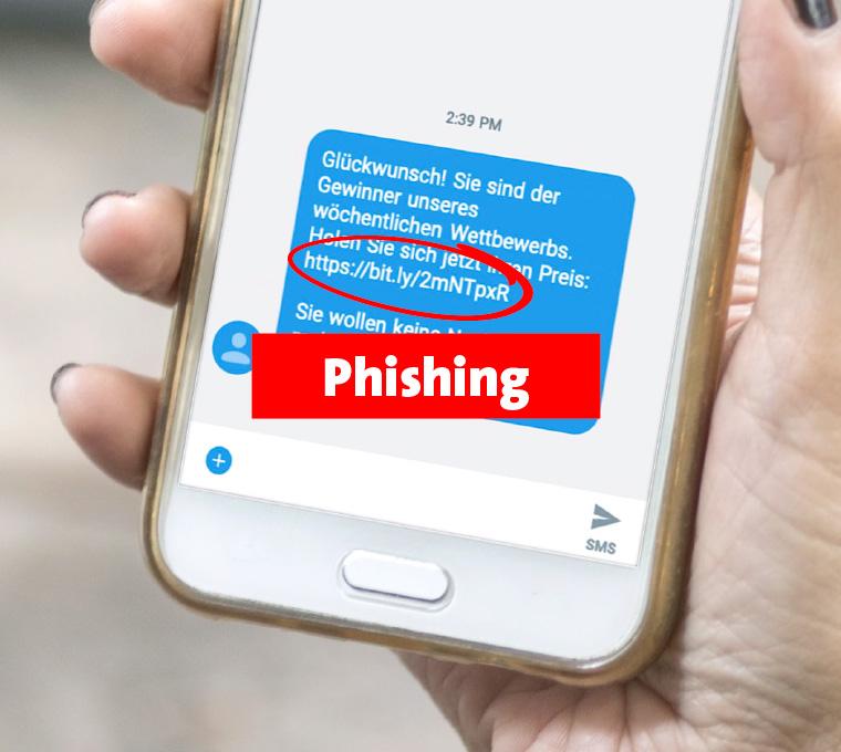 SMS als Phishing erkennen