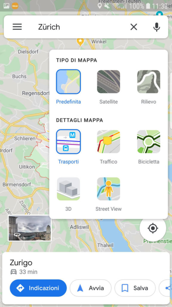 Google Maps: mezzi pubblici