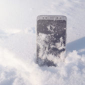 Smartphone dans la neige