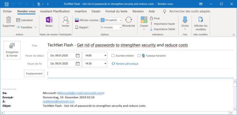 Microsoft Outlook vous permet de créer des rendez-vous à partir de vos e-mails.