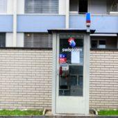 Letzte Telefonkabine in Baden.