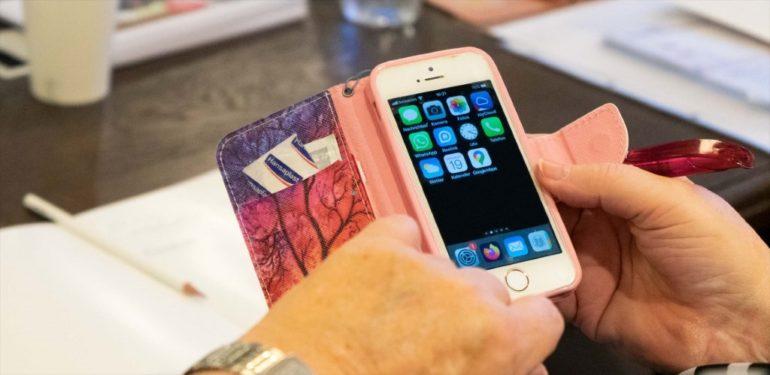 Bild eines Handys einer Teilnehmerin.
