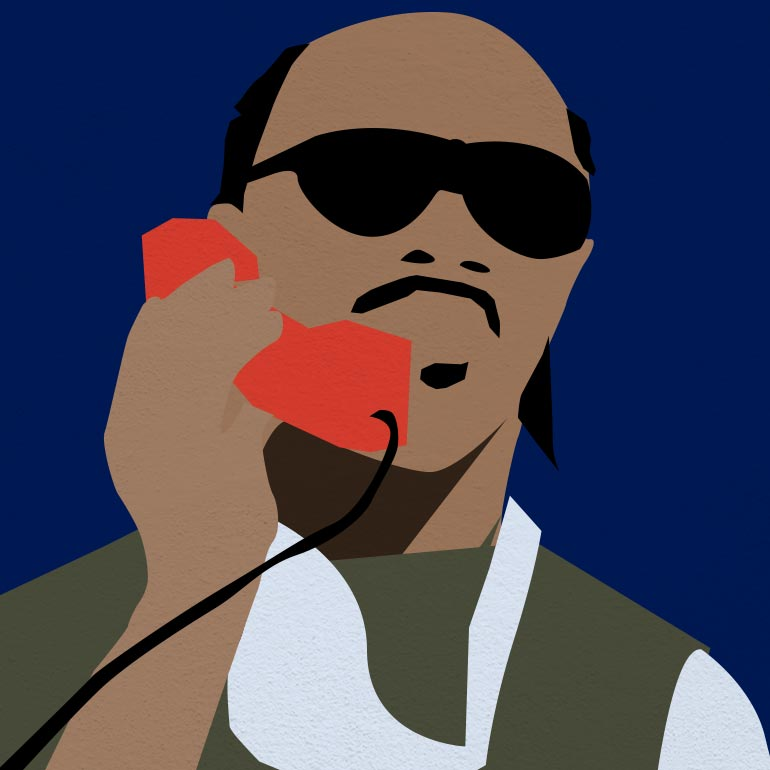 Illustration représentant le chanteur Stevie Wonder