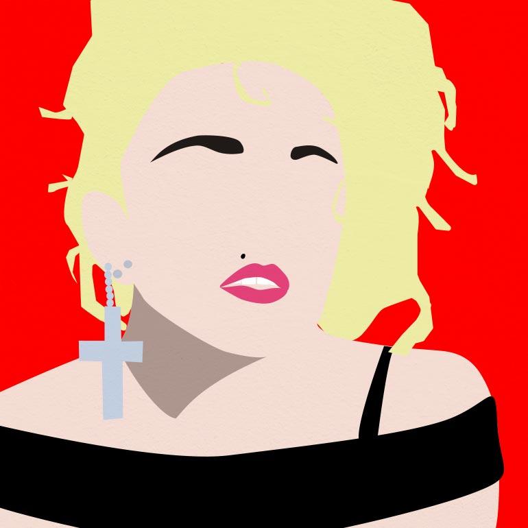 Illustration représentant la chanteuse Madonna