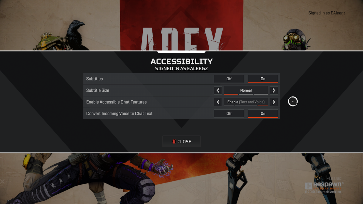 Apex Legends (PS4, XBOX, PC): in this multiplayer game, players don't have to talk to each other and instead can communicate using a sophisticated marker system. Players also have the option of converting voice chat from other players to text (and vice versa). Picture: Respawn Entertainment