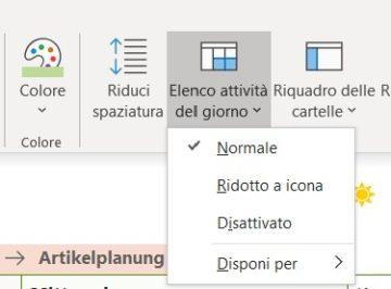 Outlook: Attività in calendario.