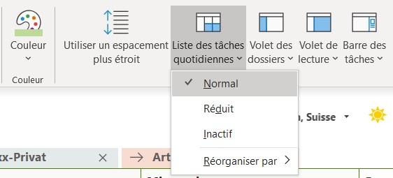 Outlook: tâches et calendrier.