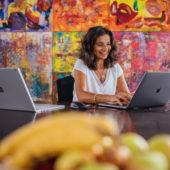 Tina Frei: propriétaire d'entreprise, mère de famille et femme de réseau