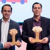 Rappresentante dell'azienda Codec, che ha vinto l'IoT Climate Award di quest'anno.