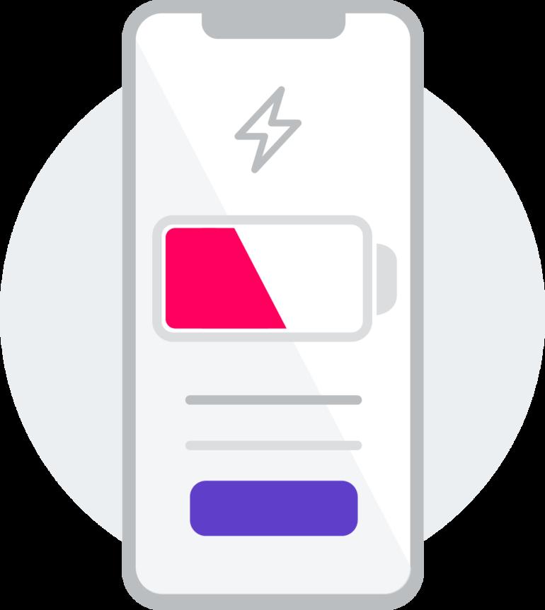 Immagine di una batteria - lunga vita allo smartphone