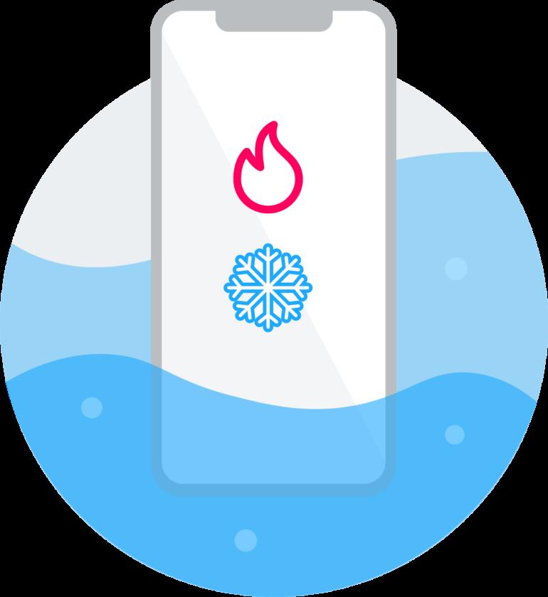 Immagine di calore e freddo - Lunga vita allo smartphone