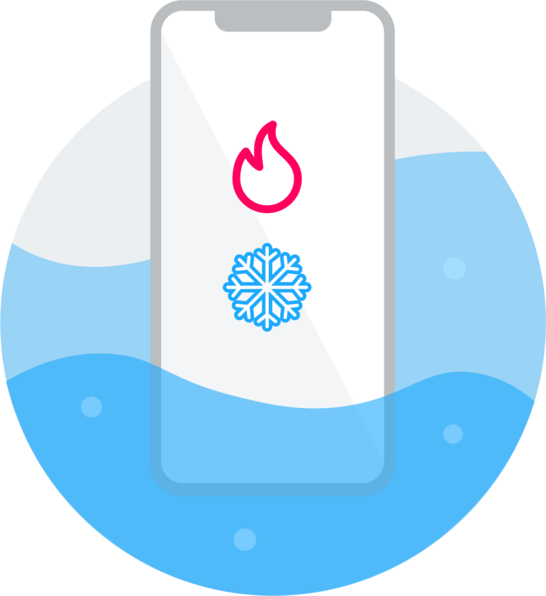 Hitze und Kälte Illustration - Lang lebe das Smartphone