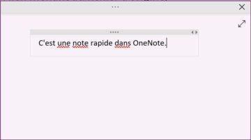 OneNote: note rapide