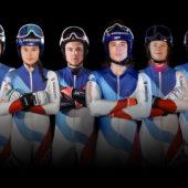 Morgen sind wir Champions - Ski alpin v.l. Alexis Monney, Alessia Bösch, Gaël Zulauf, Alexis Monney, Nick Spörri, Julie Trummer, Aline Höpli
