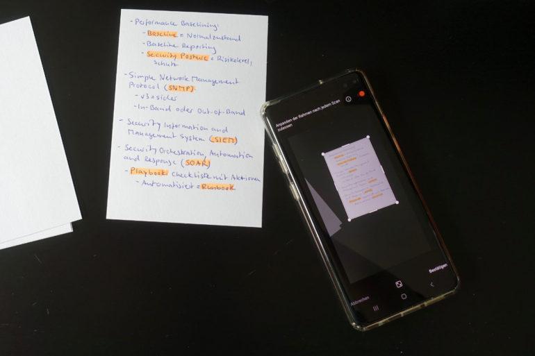 Utilizzo di Microsoft Lens come scanner di documenti.