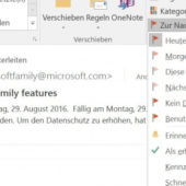 Mails in Outlook terminieren