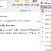 Mails in Outlook terminieren