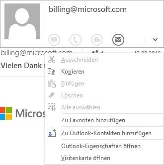Outlook 2016: ajouter un expéditeur aux contacts